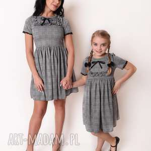 ręczne wykonanie sukienki latori - sukienka damska z kolekcji mama i córka dla mamy