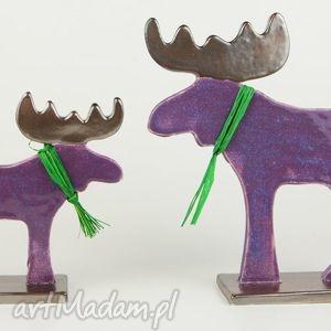 Łoś świąteczny - ,zwierzęta,figurki,ceramika,święta,łoś,