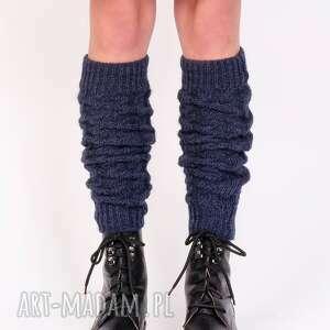 2 w 1 getry lub rękawki warkoczowy wzór - jeans, getry, rękawiczki