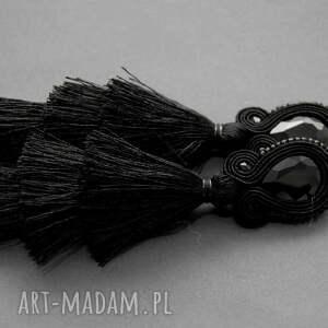 klipsy sutasz z potrójnym chwostem, sznurek, eleganckie, wiszące, wieczorowe, długie
