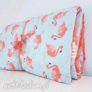 cienka kołderka na lato flamingi różowe