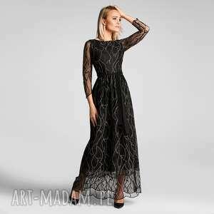 Sukienka sima maxi leokadia podkład czarny sukienki livia clue