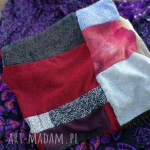 ręczne wykonanie chustki i apaszki komin damski szyty patchworkowo handmade