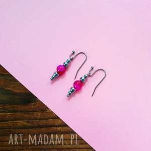 whw taste earrings pink agate, kolczyki, delikatne, kamienie, kamienne, agat