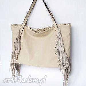 xl hobo beżowa, torba, worek na ramię torebki