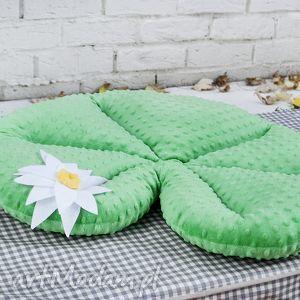 poduszka- liść lili wodnej - poduszka, zabawka, siedzisko, minky, lilia
