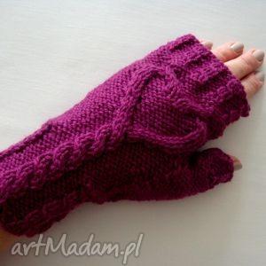ręczne wykonanie rękawiczki serduszka