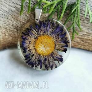 naszyjniki przeźroczysty wisior z kwiatkiem z1077, naszyjnik