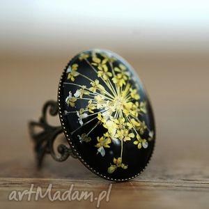 ♥ suszone kwiaty kopru ♥ pierścionek - natura, koper