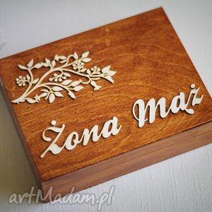 Pudełko na obrączki - gałązka I, ślub, obrączki, pudełkonaobrączki, drewnianepudełko