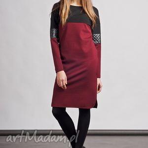 handmade sukienki sukienka, suk107 bordo
