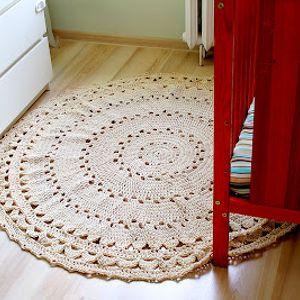 Dywan na szydełku, ręcznie robiony, szydełko, dywan, romantyczny, dywanik