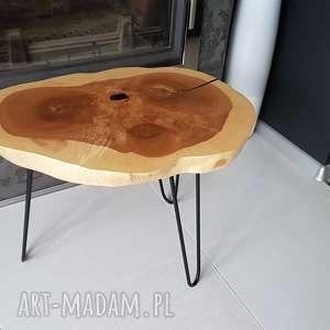 stolik kawowy plaster drewna jesion, żywica, stolik, kawowy, design