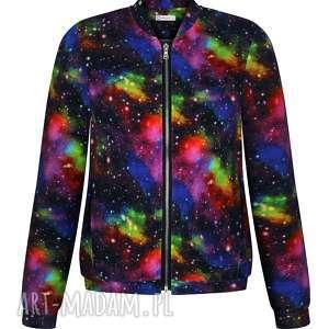 niesamowita bomberka galaktyka kosmos, damska bluza wiosenna, dzianinowa