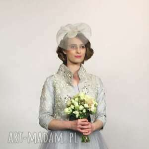 rosalia ecru, toczek, ślub