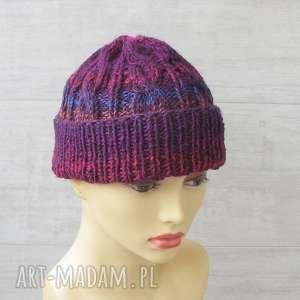 ręcznie zrobione czapki męska czapka zimowa, kolorowa