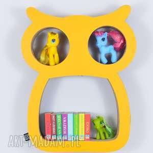 Półka na książki zabawki SOWA ecoono | żółty, półka, chłopiec, dziewczynka, organizer