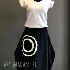 Kółko i krzyżyk-sukienka długi rękaw sukienki ququ design boho