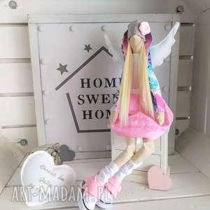 ręcznie wykonane lalki anioł lalka na chrzest z modlitwą