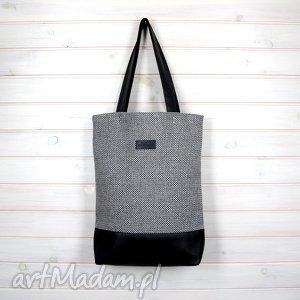 na ramię klasyczna torba pojemna wytrzymała zapinana, torebka, laptop