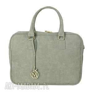 MANZANA BIZNES STYL Torba na Laptopa- szara, torba, laptop, biznes, styl, torebka