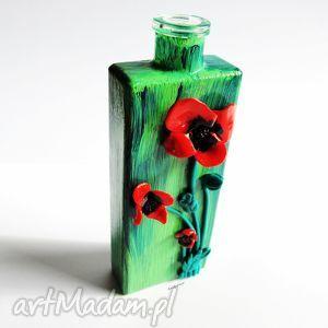 Wazon w maki wazony anibyleco wazon, maki, mak, modelina, fimo,