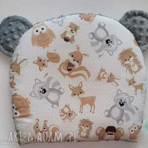 Poduszeczka miś MISIAKI szary, misie, poduszka, poduszeczka, sen, niemowlak, łóżeczko