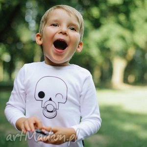 Prezent Body dla dzieci i niemowląt z długim rękawem - CZACHA ZE SMOCZKIEM, czaszka