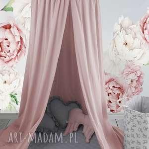 baldachim pudrowy róż, baldachim, pokój dziecięcy, namiot podwieszany