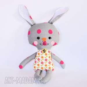 Królik Tuptuś - Hania, królik, zając, dziewczynka, maskotka, przytulanka, wielkanoc