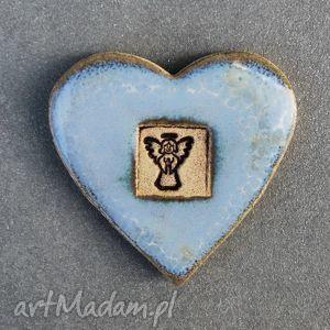Magnes Ceramiczny Serduszko., magnes, ceramiczny, serce, walentynki