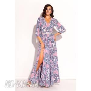 sportowe sukienka galina, maxi, wzory, unikalny