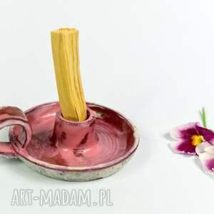 ceramika świecznik ceramiczny kaganek podstawka do palo santo na długa
