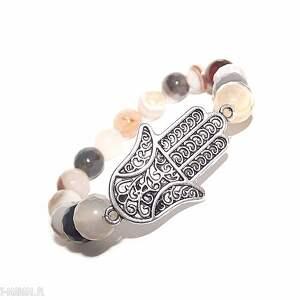 hamsa w pięknym agacie, ręka, fatimska, agat, elegancka, bransoletka, kamienie