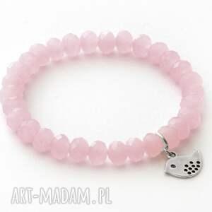 crystal in pink with little bird - ptaszek