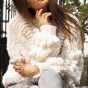 Off-white bomber swetry mondu sweter, bomber, na drutach