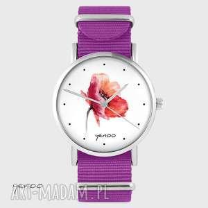 zegarek yenoo - mak amarant, nato, zegarek, bransoletka, pasek