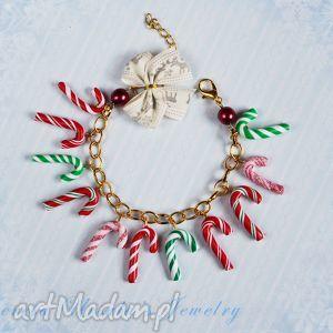 bransoletki świąteczna bransoletka cukierki laski pierniki, świąteczna