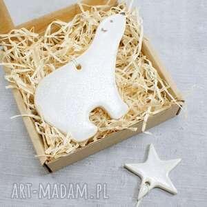 dekoracje zawieszka miś polarny, miś, niedźwiedź zawieszka, świąteczne