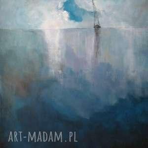 morze-obraz akrylowy formatu 50/60cm, obraz, łódź, morze