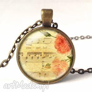 Prezent Linia melodyczna - Medalion z łańcuszkiem, muzyka, nuty, melodia, medalion