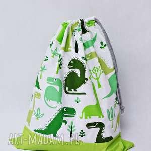 dla dziecka worek na kapcie do szkoły dinozaur zielony, worek, buty, szkoła