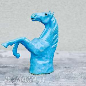 Koń aleksander ii - rzeźba kamionkowa ceramika azulhorse rzeźba