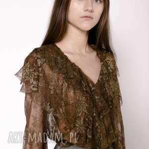 Bluzka koronkowa z falbanami bluzki magdalena koziej koronka