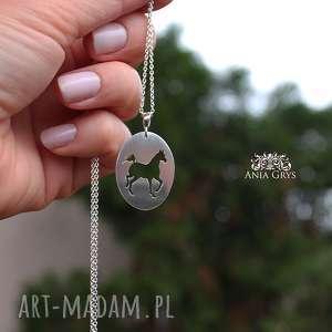 Wisiorek z koniem, koń, horse, naszyjnik, wisiorek, zawieszka, srebrny