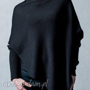 Sweter-ponczo - ArtHermina, sweter, poncho, bawełna