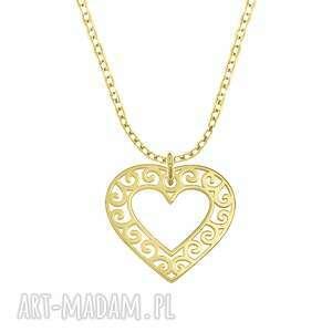 celebrate - heart 2 - necklace g - ,serce,łańcuszek,celebrytka,