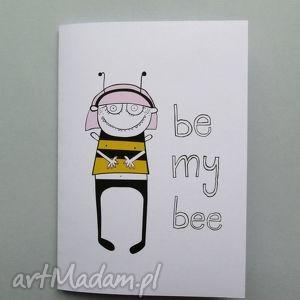 BE MY BEE kartka składana , kartka, pszczółka, bee, miłość, dziecko,