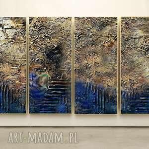 Industrial - wielkoformatowy obraz na płótnie abstrakcyjny art&texture®