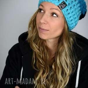 czapka tricolour 01, kolorowa czapka, na snowboard, wesoła